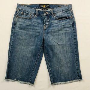 Lucky Brand Abbey Bermuda Frayed Hem Denim Shorts